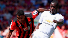 Just the start: Eric Bailly of Man United with Joshua King