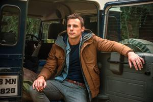 Tommy Bowe modelling clothes from his own fashion label