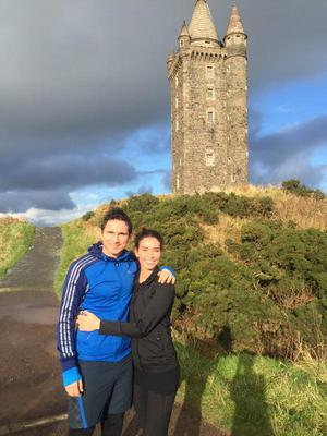 Christine Bleakley and Frank Lampard at Scrabo Tower Newtownards