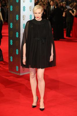 LONDON, ENGLAND - FEBRUARY 16: Actress Gwendoline Christie attends the EE British Academy Film Awards 2014 at The Royal Opera House on February 16, 2014 in London, England.  (Photo by Chris Jackson/Getty Images)
