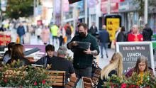 Belfast shoppers before new Covid tighter restrictions which will come into regulatory effect on Friday 16th October.  Picture by Jonathan Porter / Presseye