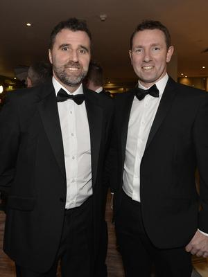 Press Eye - Belfast - Northern Ireland - 20th January  2020  Kyle McCallen and Andrew Whyte pictured at the 2019 Belfast Telegraph Sport Awards at the Crowne Plaza Hotel in Belfast. Photo by Stephen Hamilton / Press Eye.