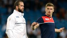 England's Owen Farrell, right, will come up against his father Andy Farrell's Ireland team on Sunday (Martin Rickett/PA)