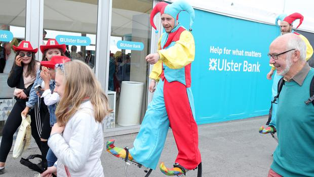 Press Eye - Belfast - Northern Ireland - 18th May 2018  Third day of the 2018 Balmoral Show, in partnership with Ulster Bank, at Balmoral Park.  Family fun entertainment at the show.   Picture by Jonathan Porter/PressEye