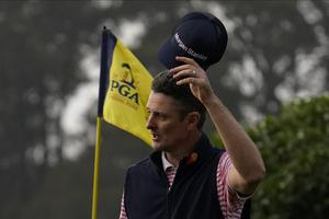 Justin Rose is in joint second place at the halfway stage (Jeff Chiu/AP).