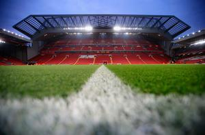 General view inside the stadium prior to kick off during the EFL Cup fourth round match between Liverpool and Tottenham Hotspur at Anfield on October 25, 2016 in Liverpool, England.  (Photo by Jan Kruger/Getty Images)