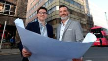 Magell director Ryan Walker (left) and flexible office expert Jamie McCoubrey at Eagle Star House