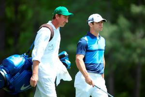 AUGUSTA, GEORGIA - APRIL 07:  Paul Casey of England and caddie John McLaren walk during the first round of the 2016 Masters Tournament at Augusta National Golf Club on April 7, 2016 in Augusta, Georgia.  (Photo by Andrew Redington/Getty Images)