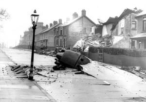WORLD WAR II: BELFAST AIR RAIDS. HUGHENDEN AVENUE.15/16 April 1941. Hughenden Avenue (Cavehill Road). AR 96.