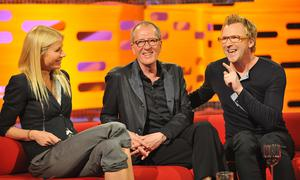 A lawyer for Rush, seen sitting between Gwyneth Paltrow and Jason Byrne, said the reporting had had devastating effects on the actor's mental state (Nick Ansell/PA)