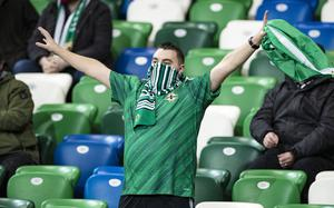 Northern Ireland's during the Euro Qualifier in Belfast on November 12th 2020 (Photo by Kevin Scott for Belfast Telegraph)