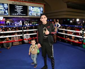 Press Eye - Belfast -  Northern Ireland - 25th January 2017 - Photo by William Cherry  Leo Santa Cruz during his public training session at the MGM Grand Hotel and Casino, Las Vegas. Leo Santa Cruz will be trying to win his belt back from Champion Carl Frampton in a rematch for the WBA featherweight title.  Photo William Cherry/Presseye