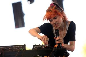 INDIO, CA - APRIL 14:  Musician Grimes performs onstage during day 3 of the 2013 Coachella Valley Music & Arts Festival at the Empire Polo Club on April 14, 2013 in Indio, California.  (Photo by Karl Walter/Getty Images for Coachella)