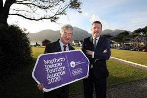 John McGrillen, chief executive of Tourism NI and Paddy McKenna, commercial manager Diageo NI