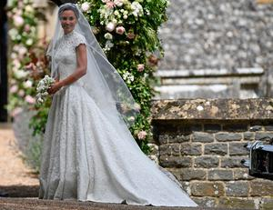 The Duchess of Cambridge's sister Pippa Middleton arrives at St Mark's church in Englefield, Berkshire, for her wedding to her millionaire groom James Matthews at an event dubbed the society wedding of the year. PRESS ASSOCIATION Photo. Picture date: Saturday May 20, 2017. See PA story ROYAL Pippa. Photo credit should read: Justin Tallis/PA Wire