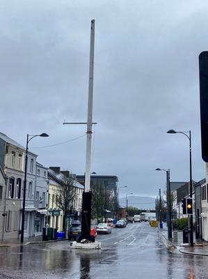 North Down DUP MLA Gordon Dunne has expressed his alarm that the Holywood Maypole has been by Tuesdays storm and the top section has broken off and crashed to the ground. The MLA added: