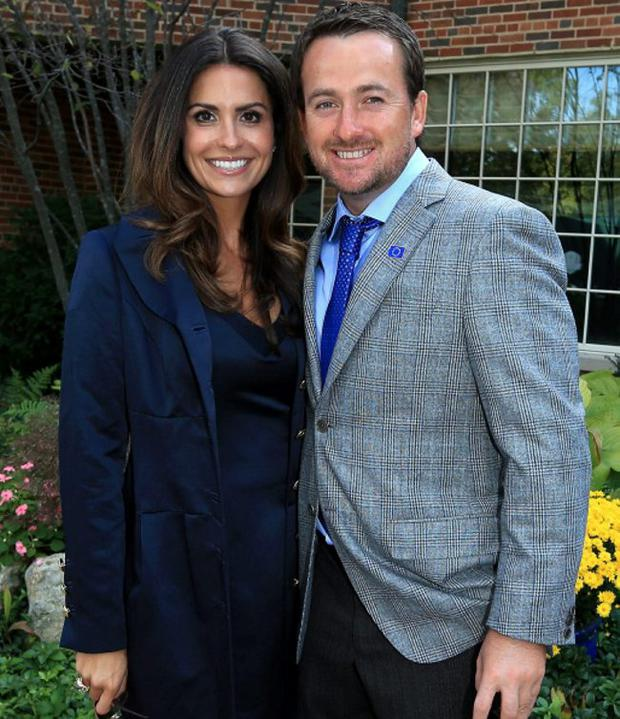 Graeme McDowell with his fiancee Kristin Stape