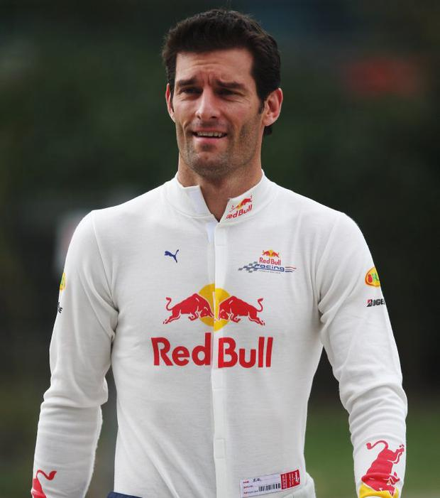SHANGHAI, CHINA - OCTOBER 17: (FILE PHOTO) Mark Webber of Australia and Red Bull Racing is seen during practice for the Chinese Formula One Grand Prix at the Shanghai International Circuit on October 17, 2008 in Shanghai, China. F1 driver Mark Webber collided with a motor vehicle during his charity event the Mark Webber Challenge on Saturday November 22, 2008 and is being treated for injuries including a broken leg after being airlifted to hospital. (Photo by Mark Thompson/Getty Images)