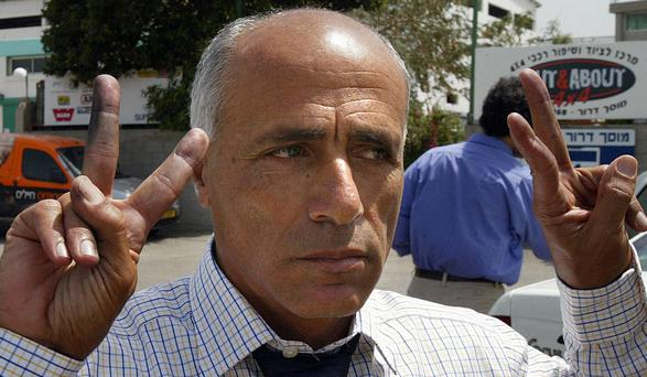 Nuclear scientist turned whistle-blower Mordechai Vanunu outside prison in Israel in 2004