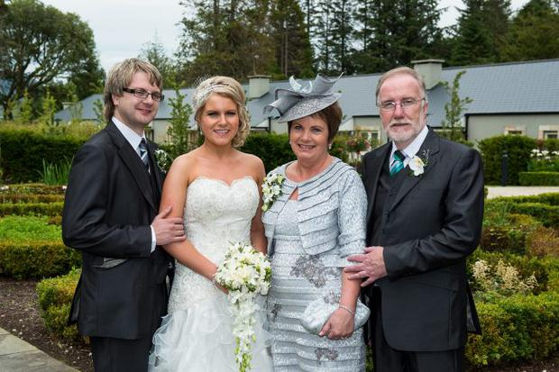 Amy and Stephen Lowry with her mum Shirley and dad Dessy
