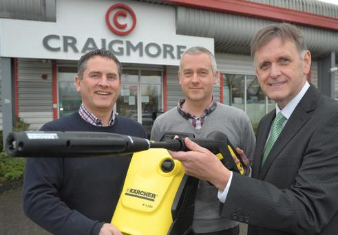 (L-R) are Geoff Baird, Managing Director of Craigmore Industrial and Engineering Solutions, Stephen Ellis from Webappy who designed Craigmores website and Invest NI's Southern Regional Manager, Mark Bleakney