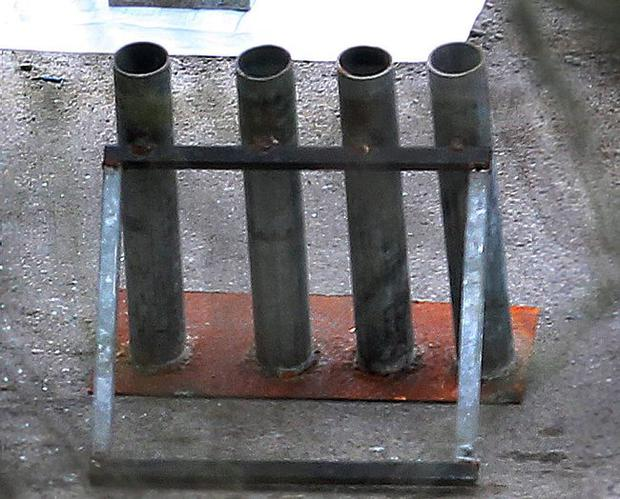 Mortar tubes recovered in Derry March 4 2013