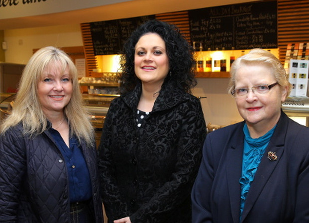 Lagan Valley Business Breakfast at Café Vic-Ryn in Lisburn. Brenda Hale, Belinda O'Neill and Margaret Tolerton