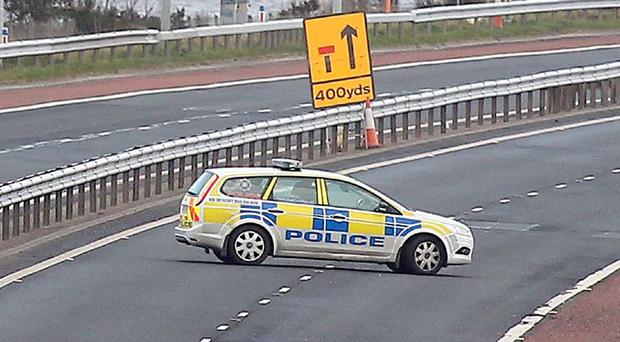 The scene on the M5 outside Belfast