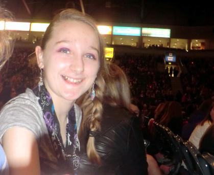 One Direction fan Chloe Sayers who celebrated her birthday at the concert on Friday night. Photo submitted by Muriel Sayers