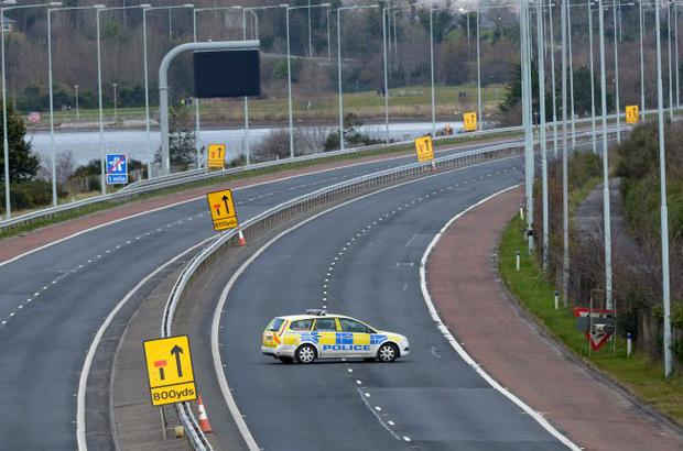 M5 closed to traffic on Sunday.