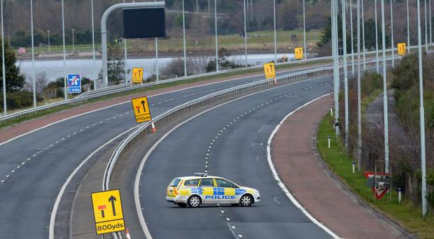 Police chiefs said it was possible the officers – two men and one woman – were being watched by those who planted the bomb when they were called to an incident at Duncrue pathway