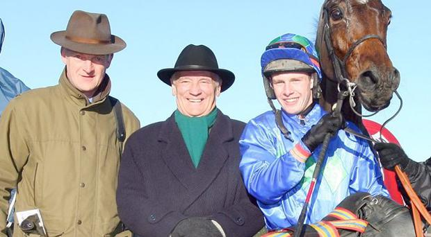 Trainer Willie Mullins, owner George Creighton, jockey Paul Townend and Hurricane Fly