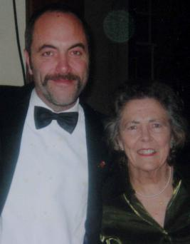 Actor Jimmy Nesbitt and his late mother May, who had Alzheimer's.