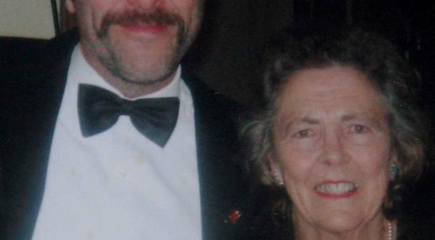 Jimmy Nesbitt with his mother May