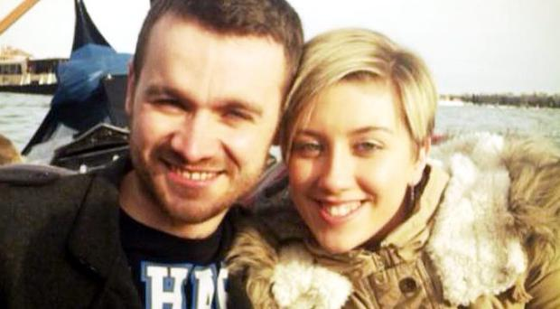 Daniel Hendry and Kathryn Tully on holiday in Venice where they lost ring