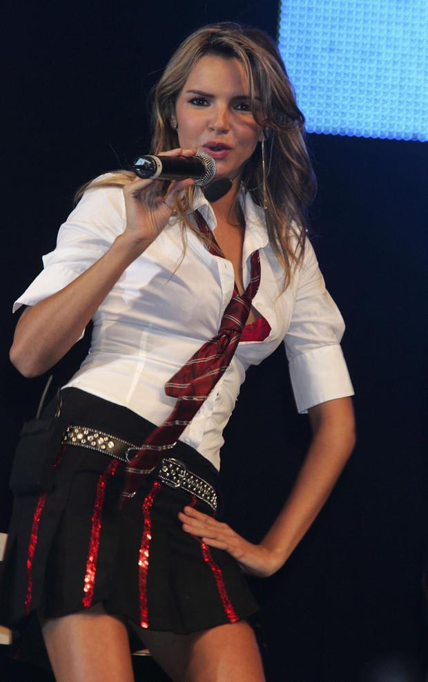 Nadine Coyle of Girls Aloud performs on stage at the second annual