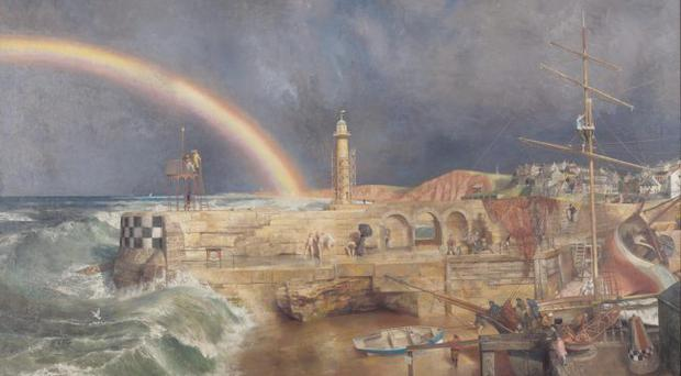 Coast Scene with Rainbow by Richard Ernst Eurich 1952-1953