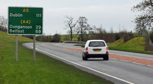 The A5 Derry to Dublin road outside Omagh.