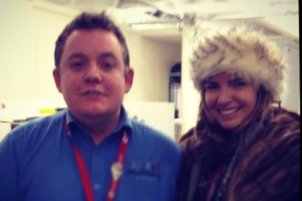 Alex Duffy with Nadine Coyle