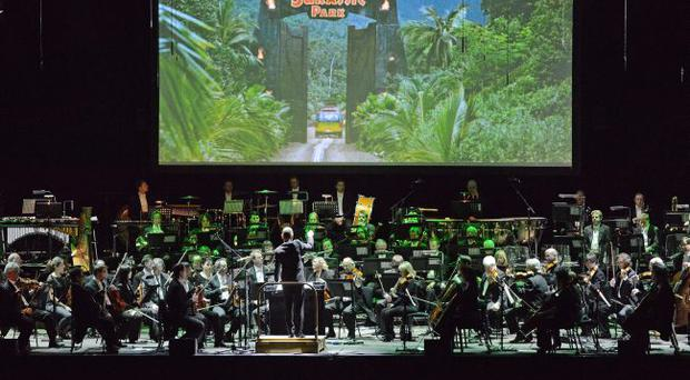 The London Symphony Orchestra on stage at the Venue on Monday night