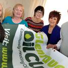 Glenravel oil club members Roisin Marron, Deirdre Mullholland, Suzanne Scullion, Marion Maguire and councillor Paul Maguire