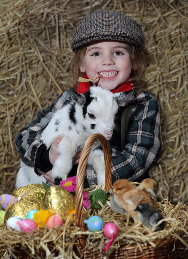 Oliver Cherry age 5 from Bangor is helping Bóthar Northern Ireland this Easter to ask people to give that egg-stra special gift by making a donation to the aid organisation and helping to drastically change the lives of families in the developing world.