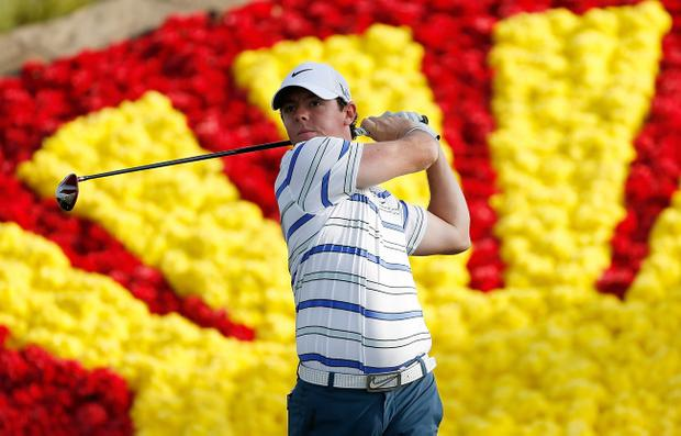 HUMBLE, TX - MARCH 28: Rory McIlroy of Northern Ireland hits his tee shot on the 18th hole during the first round of the Shell Houston Open at the Redstone Golf Club on March 28, 2013 in Humble, Texas. (Photo by Scott Halleran/Getty Images)