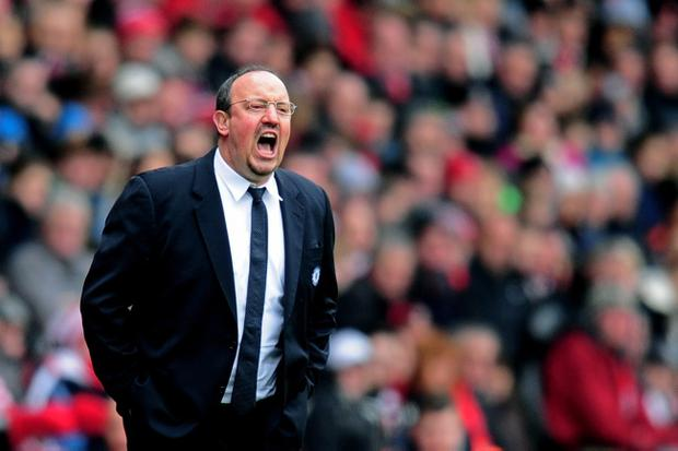 Rafael Benitez's Chelsea will face Manchester United in an FA Cup quarter-final replay today