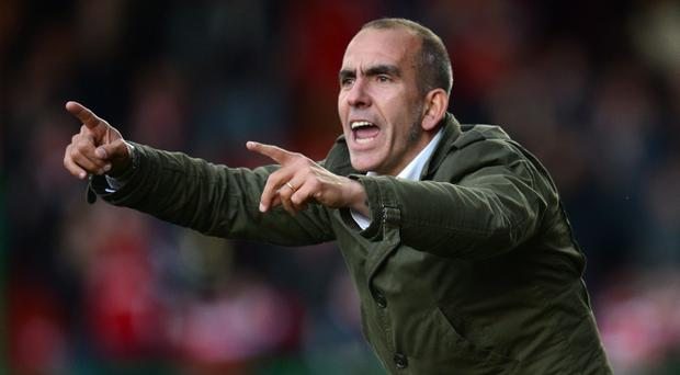 FILE - MARCH 31, 2013: Paolo Di Canio has been announced as the new head coach of Sunderland following the dismissal of former manager Martin O'Neill SWINDON, ENGLAND - OCTOBER 13: Swindon manager Paolo Di Canio makes a point during the npower League One match between Swindon Town and Coventry City at County Ground on October 13, 2012 in Swindon, England. (Photo by Mike Hewitt/Getty Images)