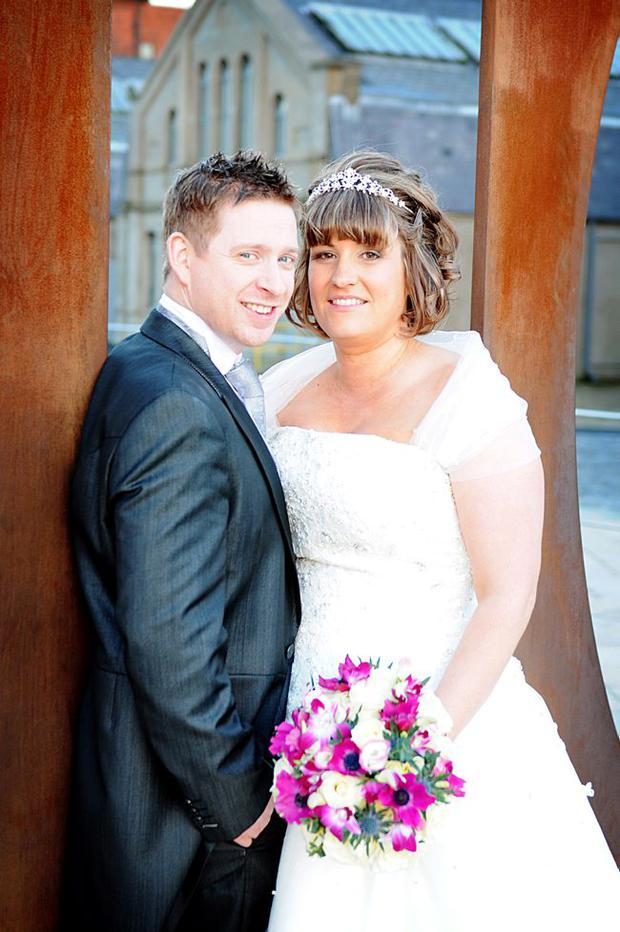 Gareth and Victoria Ferris on their wedding day