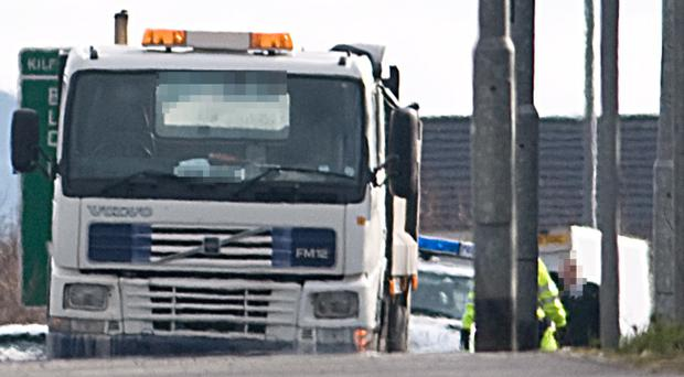 The scene of the accident at Crescent Link in Londonderry yesterday