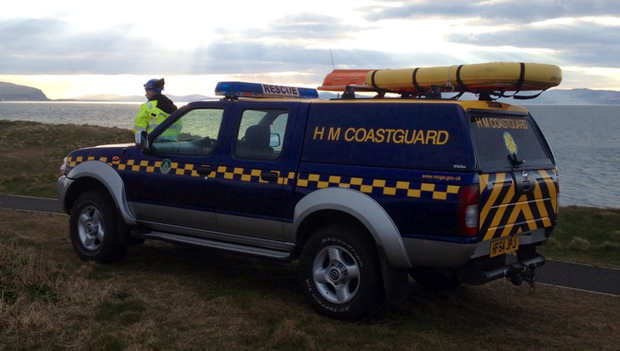Coleraine Coastguard at the scene in Portstewart earlier this afternoon