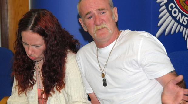 File photo dated 21/6/2011 of Mick Philpott and wife Mairead speaking to the media at Derby Conference Centre, Derby. Philpott was today jailed for life with a minimum term of 15 years at Nottingham Crown Court after being found guilty of killing six of his children in a house fire. Mairead was jailed for 17 years after also being found guilty of killing the six children in the blaze