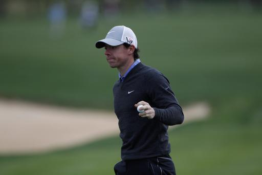 SAN ANTONIO, TX - APRIL 04: Rory McIlroy of Northern Irekand holds up his ball during the first round of the Valero Texas Open held at the AT&T Oaks Course at TPC San Antonio on April 4, 2013 in San Antonio, Texas. (Photo by Michael Cohen/Getty Images)